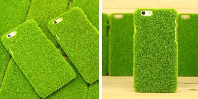 Дешёвые чехлы для iPhone: Чехол-трава