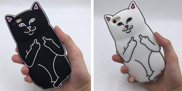Дешёвые чехлы для iPhone: Чехол с котиком