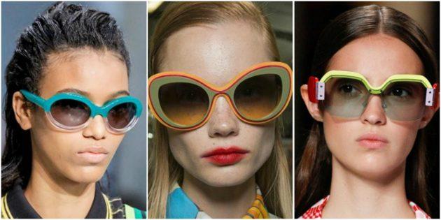 Модные женские очки 2018: Разноцветные очки