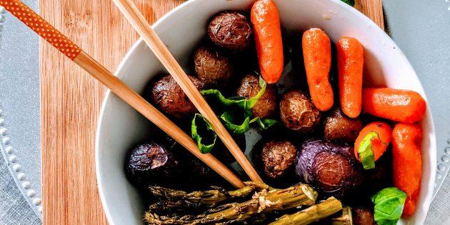 простые блюда: запечённые овощи
