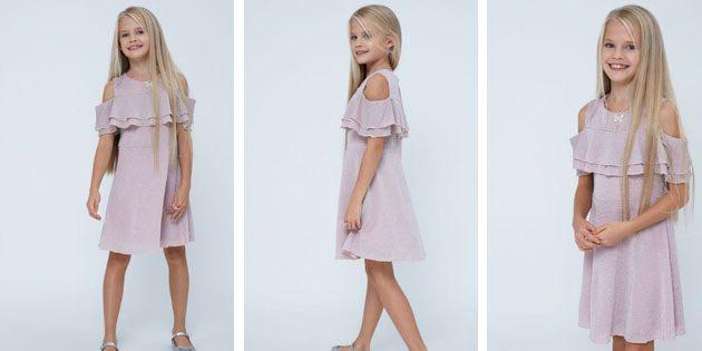 Платье с приспущенными рукавами от Zarina