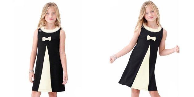 Чёрно-белое платье от Quelle