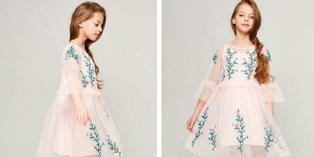 Платье с воздушными рукавами от Zarina