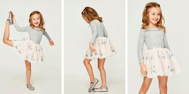 Платье с гладким верхом от Zarina