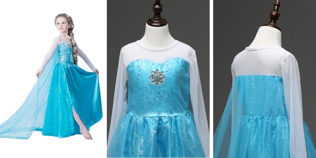 Детские платья на выпускной: Платье как у Эльзы