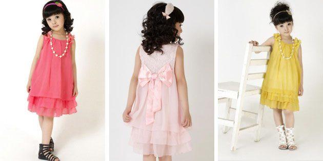 Детские платья на выпускной: Многослойное шифоновое платье