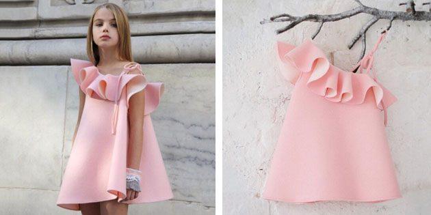Детские платья на выпускной: Платье с открытым плечом