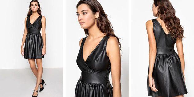 Платье под кожу с декольте отLa Redoute