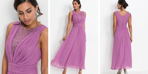 Макси-платье с широким поясом отBonprix