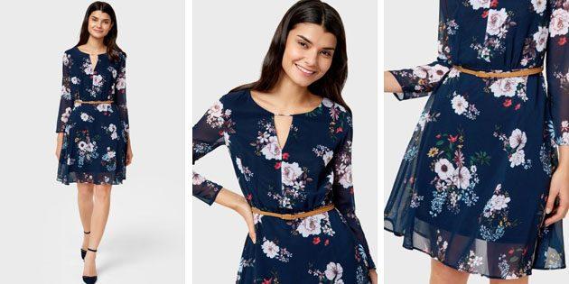 Шифоновое платье с цветочным принтом отOSTIN