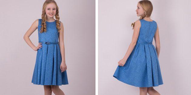 Детские платья на выпускной: Платье с ремешком от Shened