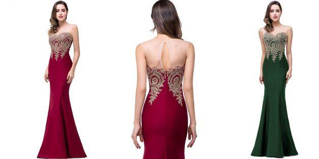 Платье годе с вырезом на спине
