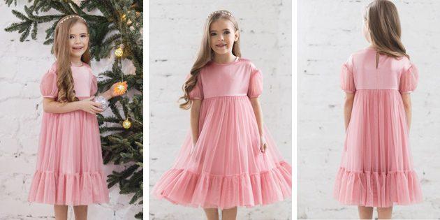 Детские платья на выпускной: Платье с завышенной талией от Fizerly