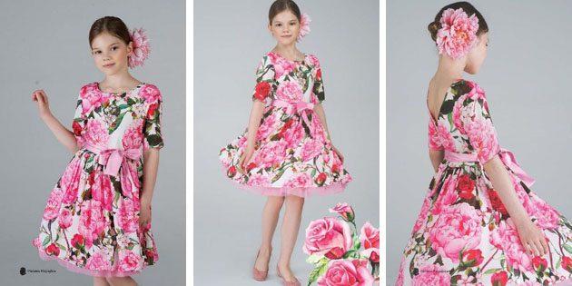 Платье с розами от Stefania Pinyagina