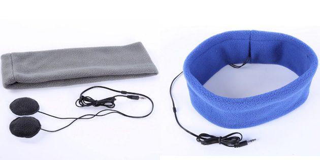 Фитнес-браслет. Маска для сна со встроенными наушниками