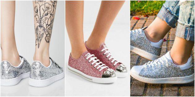 Модные кроссовки 2018: Глиттеры