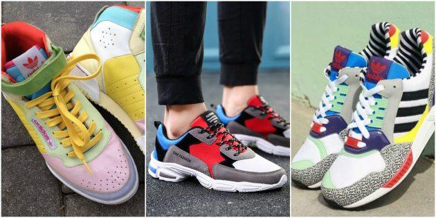 Модные кроссовки 2018: Колор-блок
