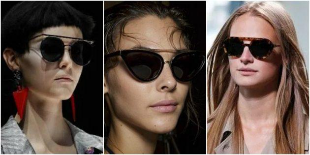 Модные женские очки-монобровь