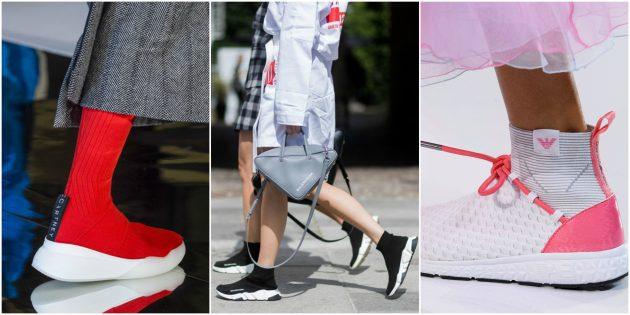 Модные кроссовки 2018: Кроссовки-носки