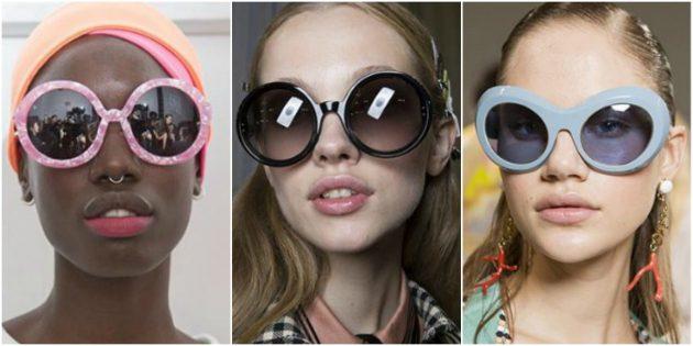 Модные женские очки 2018: Округлая оправа-оверсайз