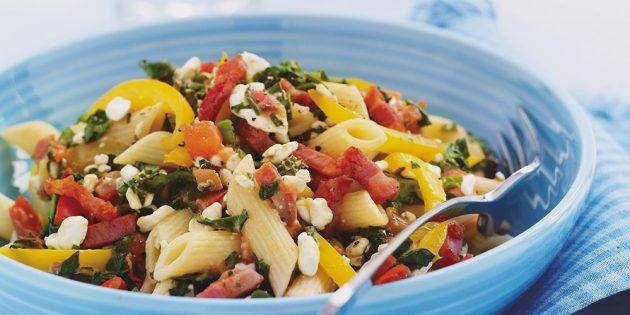 Рецепты из творога: паста с творогом и овощами