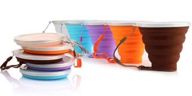 Складной силиконовый стакан