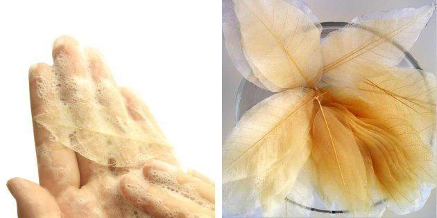 Мыло в форме листьев
