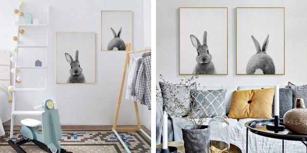 Постеры с кроликами