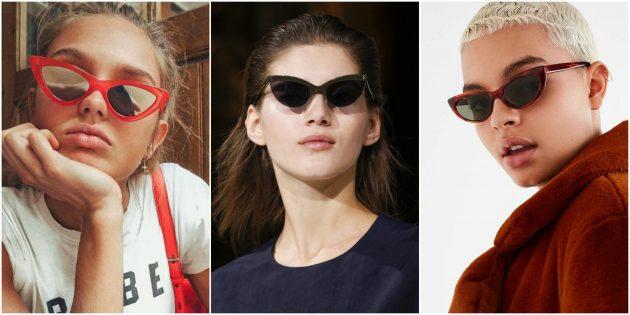 Модные женские очки: Раскосая ретрооправа