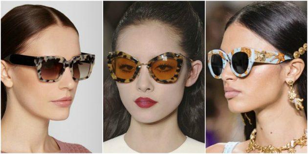 Модные женские очки 2018: Оправа с принтами