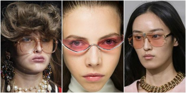 Модные женские очки 2018: Прозрачные очки
