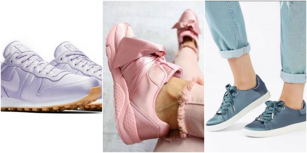 Модные кроссовки 2018: Сатин (атлас)