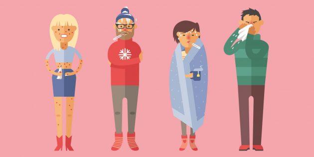Сколько длится заразный период у гриппа, ветрянки и других заболеваний