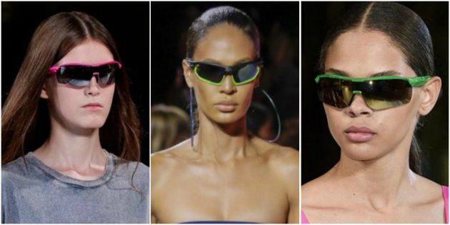 Модные женские очки в спортивном стиле