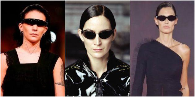 Модные женские очки: Нарочито узкая оправа