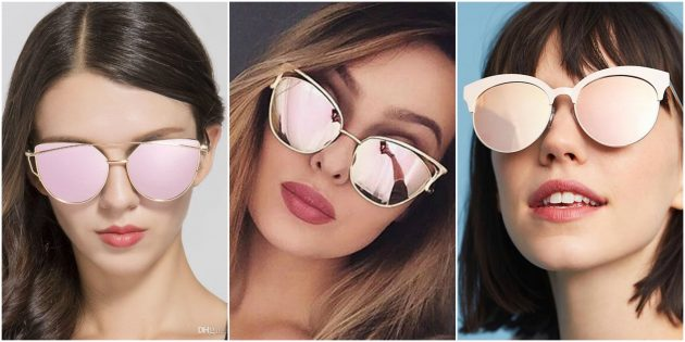Модные женские очки 2018: Зеркальные линзы
