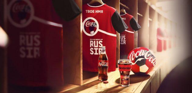 Coca-Cola меняет крышечки на именные футболки к ЧМ-2018