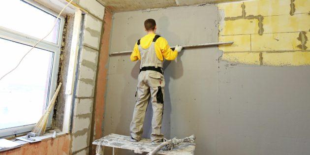 Малярные работы. Оштукатуривание стен