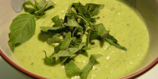 Лучшие рецепты с базиликом: Суп из авокадо с базиликом