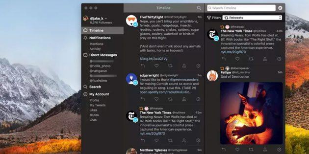 Вышел Tweetbot 3 для macOS — новая версия одного из лучших клиентов Twitter