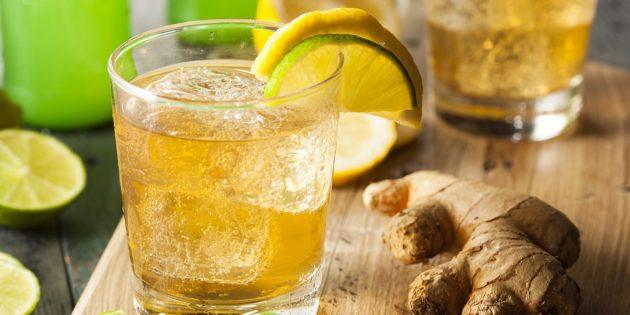 Коктейль для похудения с имбирём, лимоном и мёдом