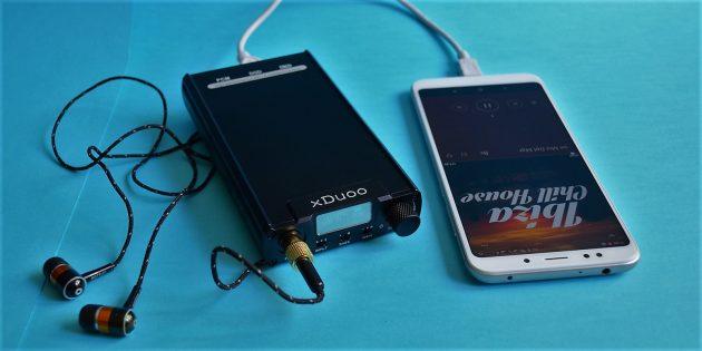 xDuoo XD-05: подключение к смартфону