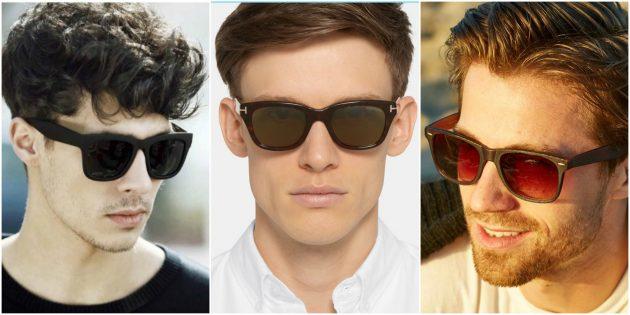Модные мужские очки: Очки в D-образной оправе