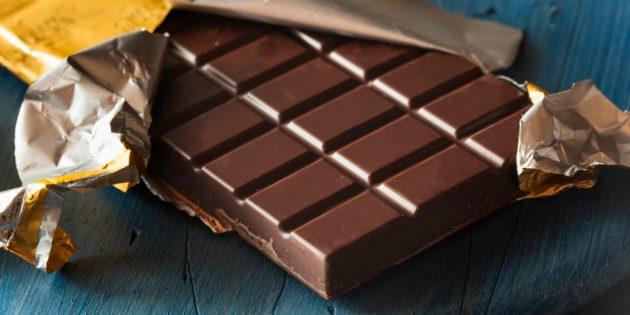 какие продукты надо. Тёмный шоколад
