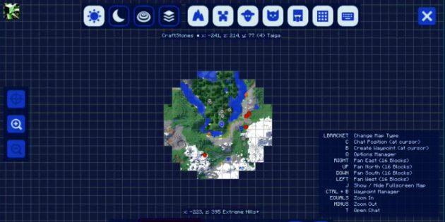 Моды Minecraft: JourneyMap