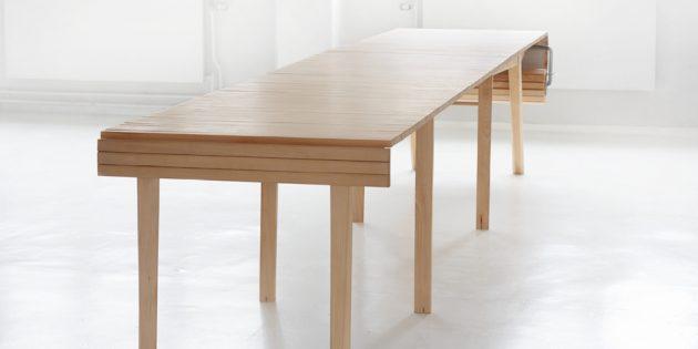 Большой обеденный стол. Регулируемая длина