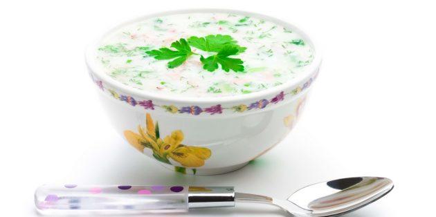 Рецепты окрошки: окрошка с адыгейским сыром