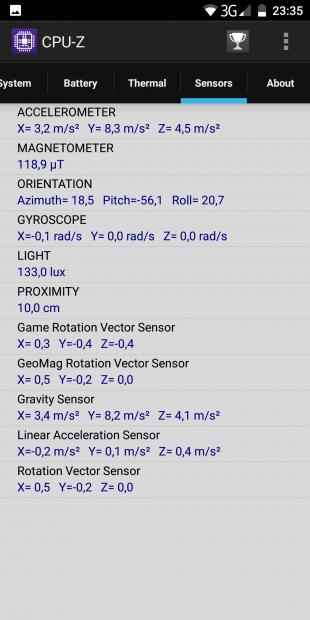 Elephone U: CPU-Z