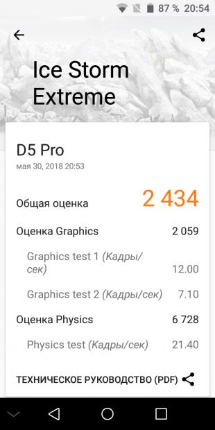 Bluboo D5 Pro. 3DMark