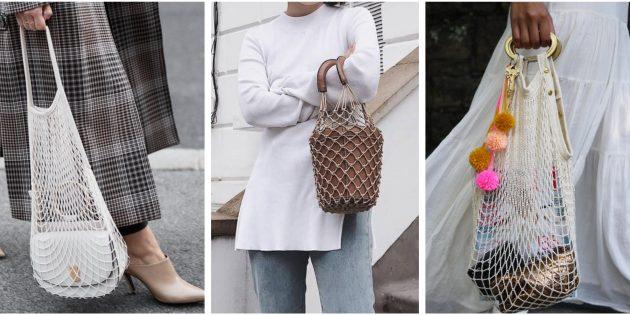 Модные сумки 2018 года: Плетёная сумка